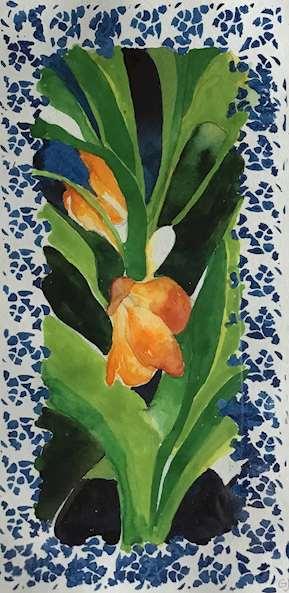 Målning av Gertrud Jonsson
